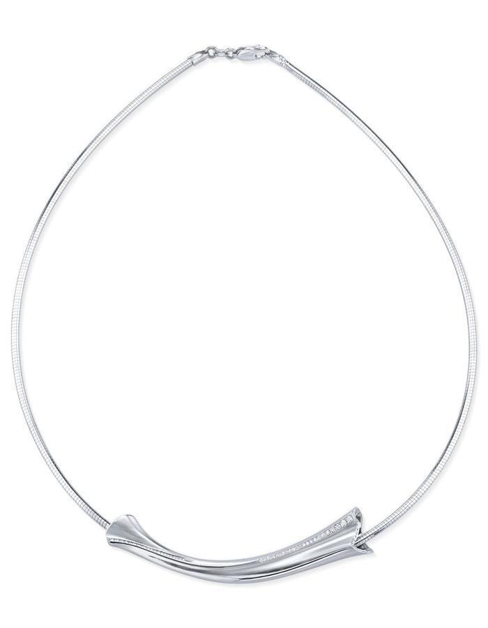 Theron Necklace, platinum and white diamond detail