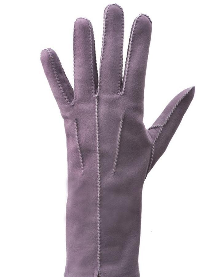 Helen violet suede, silk lined