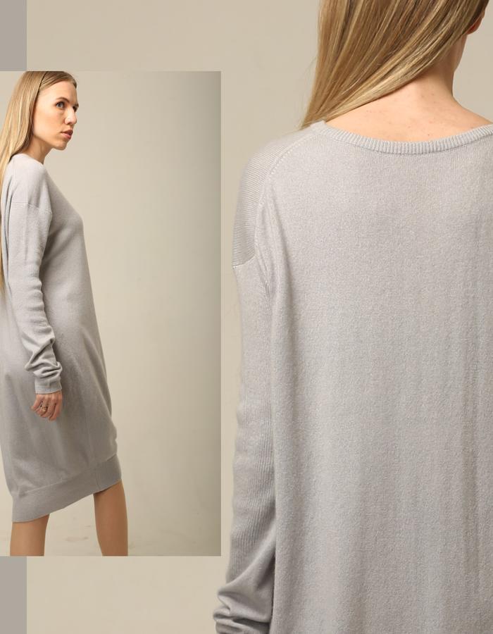 Pure cashmere oversized skater dress