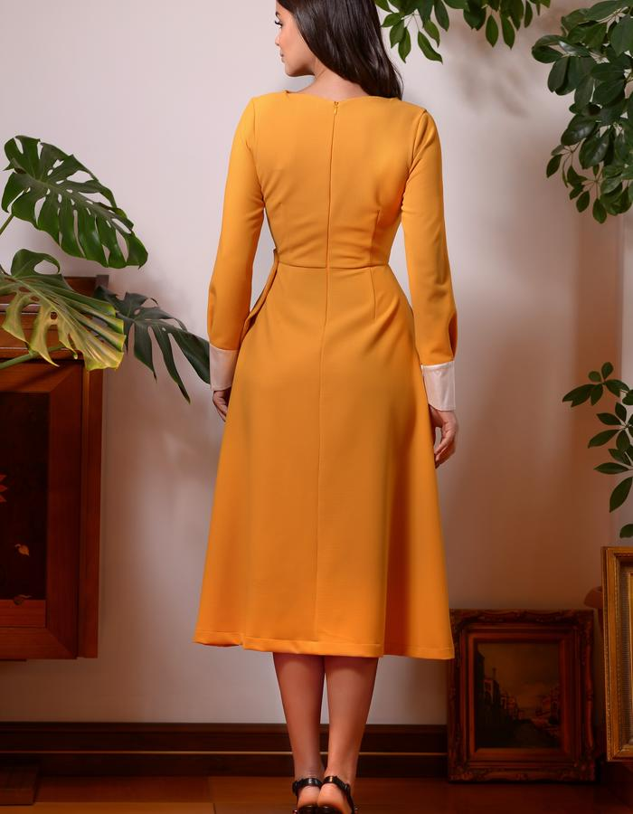 The Monarch Dress (Marigold Midi Dress with Wings)