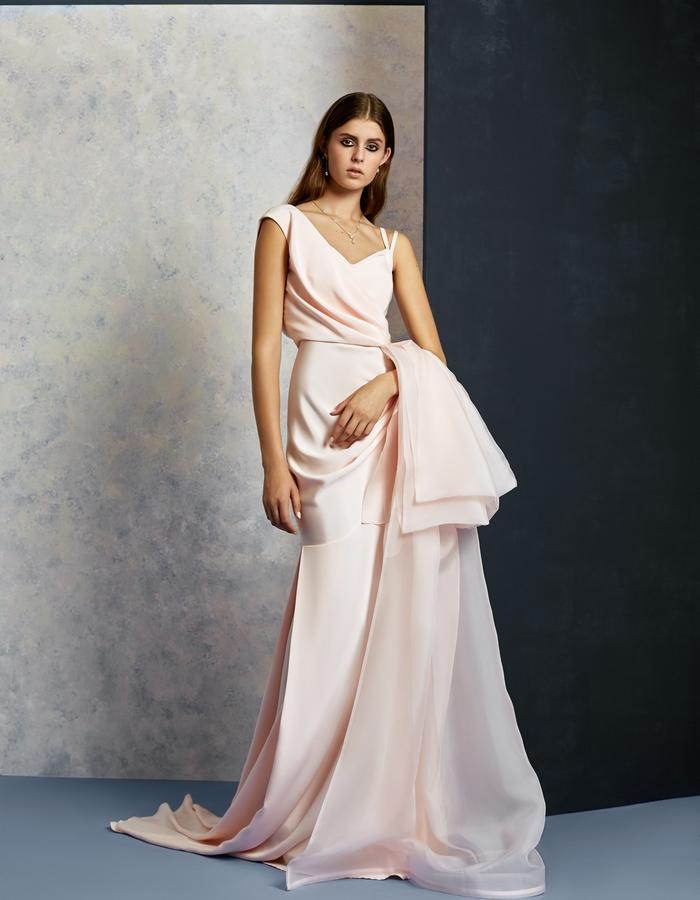 Pink Drape Gown