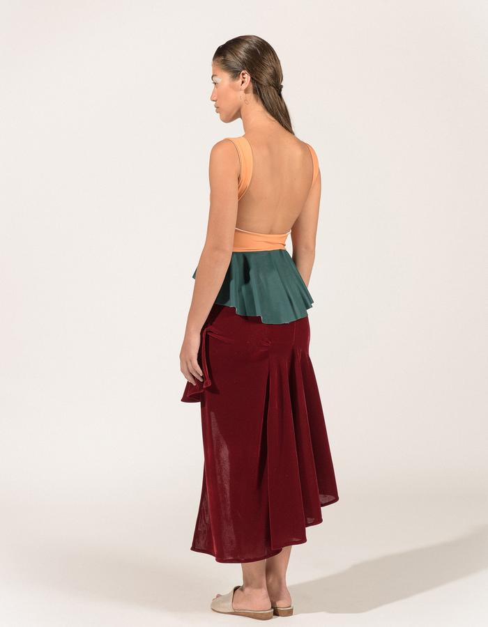 Aurora Skirt(back)_burgundy