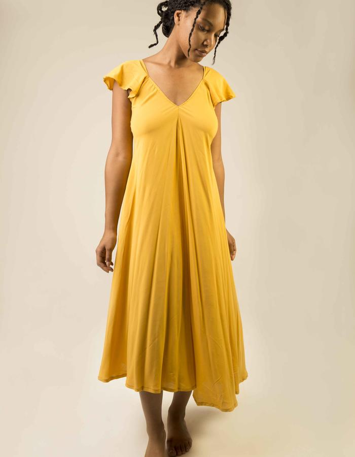 Hacienda Dress (front)_yellow