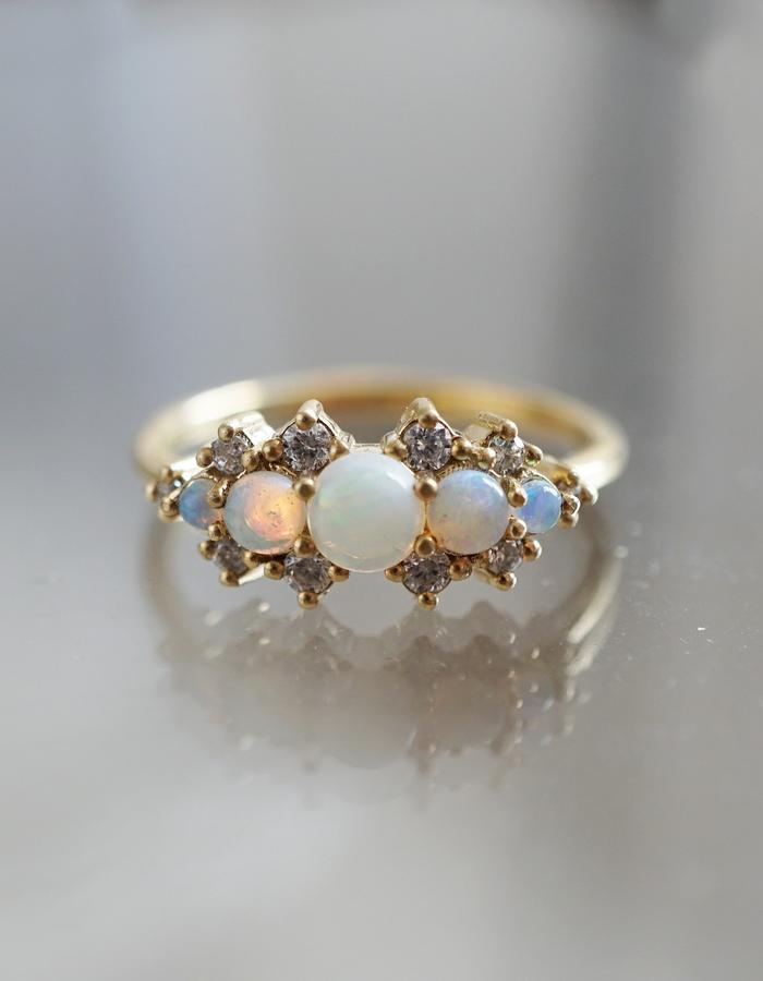 Opal Heaven ring designed by Tippy Taste
